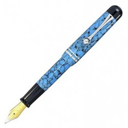 Stylo plume or 18 carats Admiral Bleu Bexley