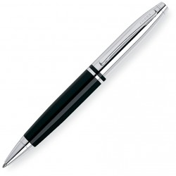 Stylo bille Calais Noir-Chrome Cross